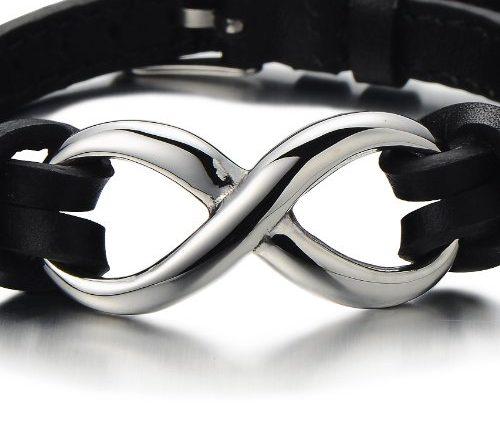 infinity armband leder männer